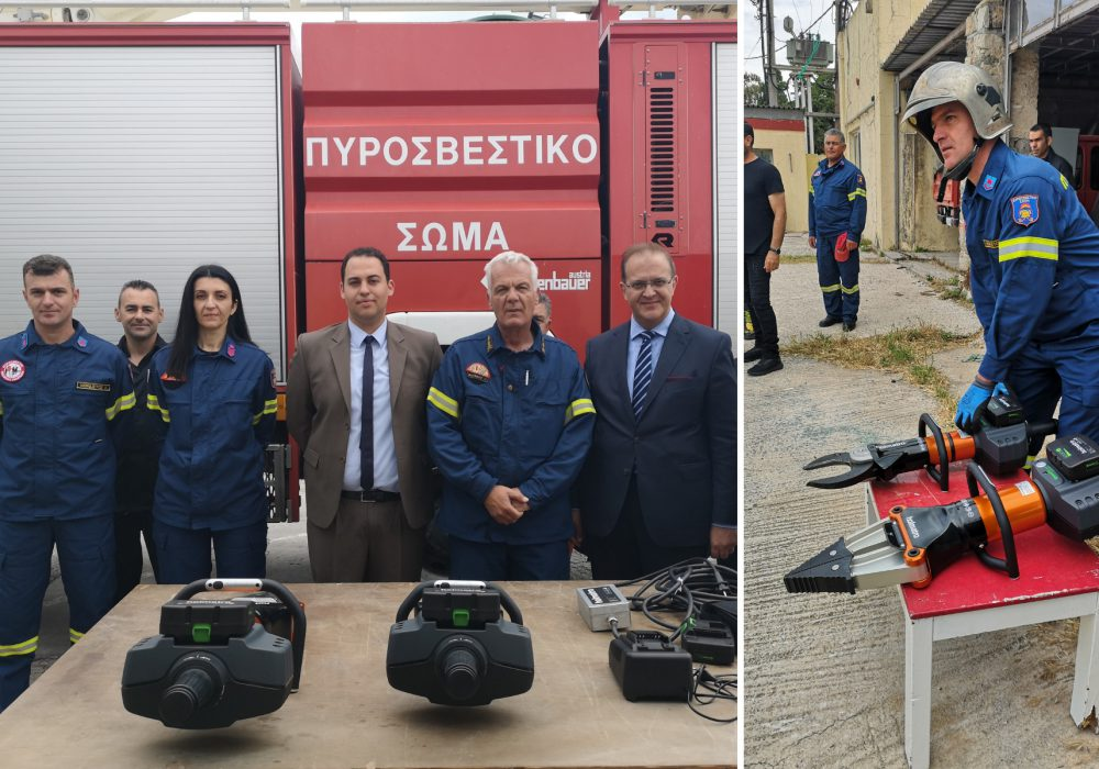 Astir Odysseus donates rescue equipment to the Fire Department of Kos